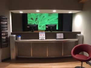 Patients will see a sharp reception Area at the Wellness Institute of Maryland